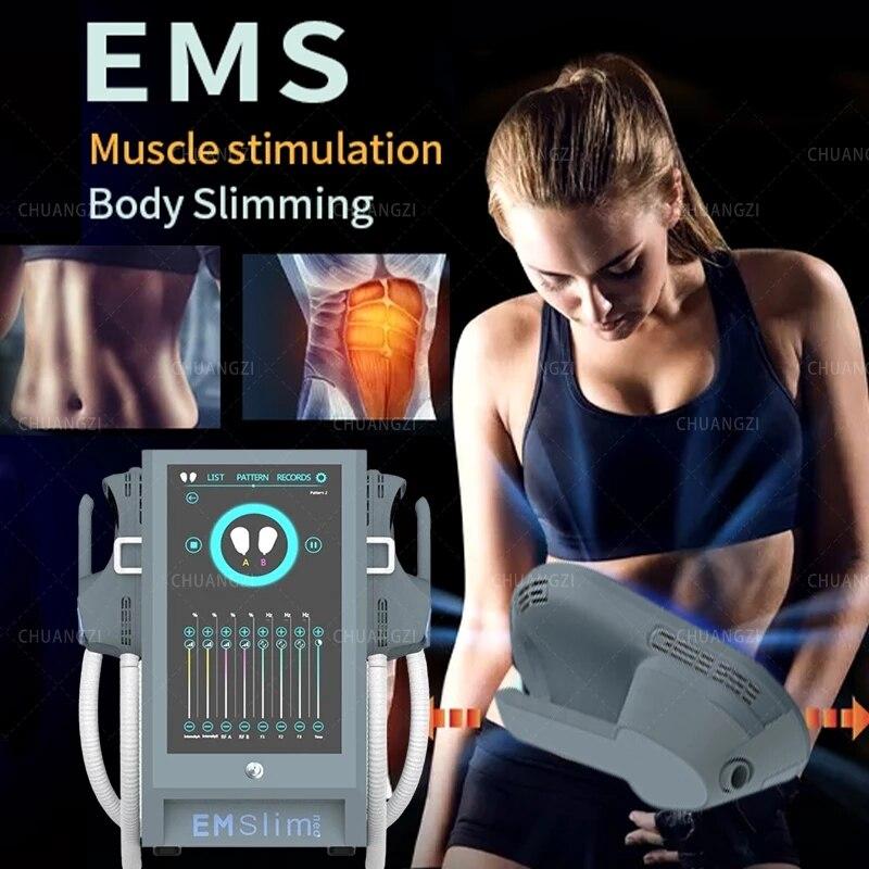 HI-EMT Ems تحفيز العضلات Emslim Neo RF Ems نحت آلة الكهرومغناطيسية تسلا أربعة مقابض ماكينة تنحيف الجسم العضلات