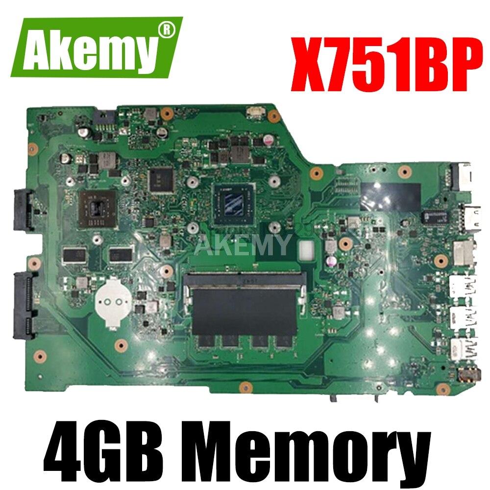X751BP-4G ذاكرة الوصول العشوائي E2-9000 AMD اللوحة الأم ل For For For For Asus X751B K751BP دفتر اللوحة الأم اللوحة الأم