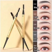 Double Head Liquid Eyebrow Pen Waterproof & Smudge Proof Eye Makeup Super Durable Long Lasting Tatto