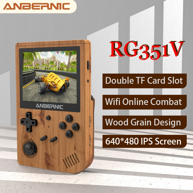 ANBERNIC RG351V Handheld Game Player 5000 Classic Games RK3326 Portable Retro Mini Game Console IPS Wifi Online Combat Game