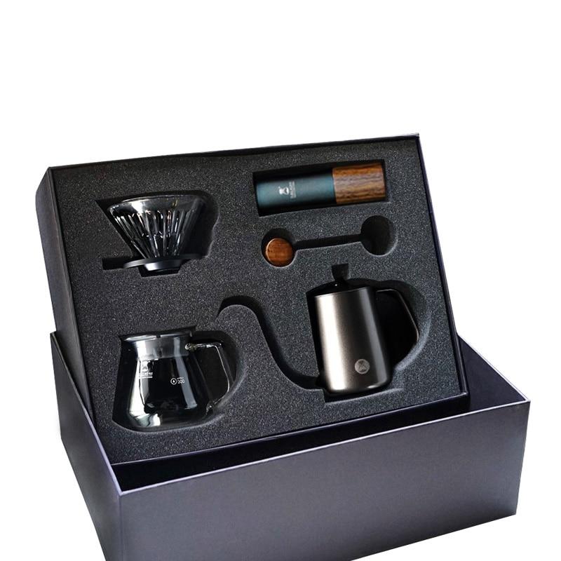 TIMEMORE-أطقم القهوة المصنوعة يدويًا ، صندوق هدايا ، مطحنة يدوية G1/G1S ، خادم تنقيط القهوة