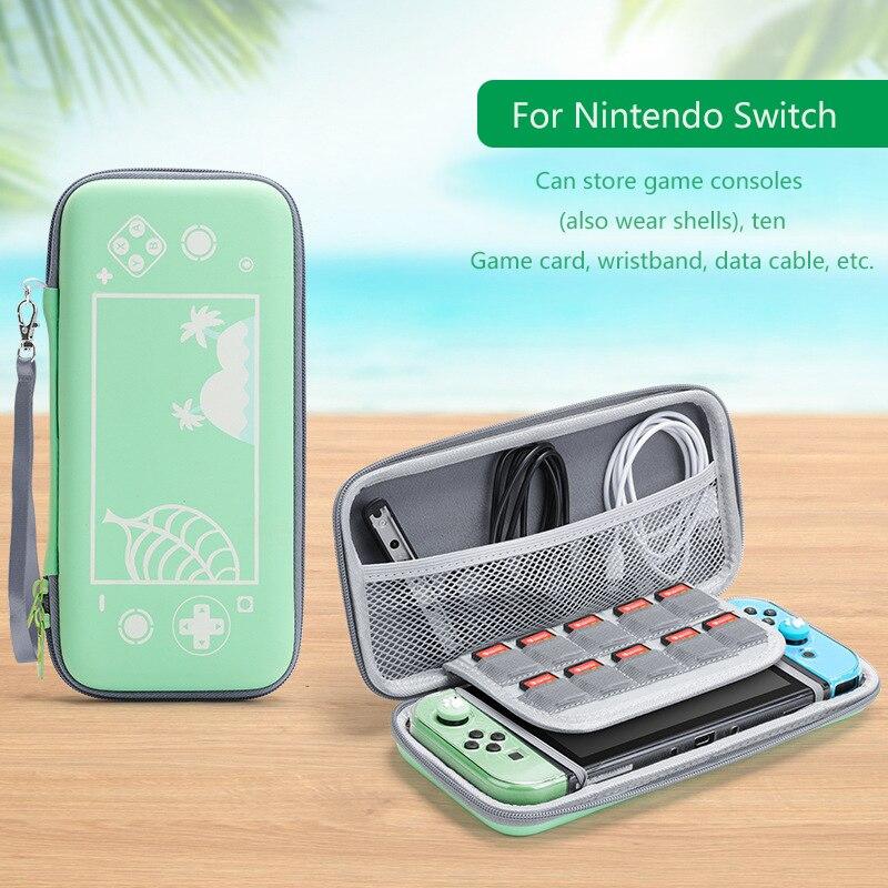 Funda de silicona con motivo de Cruce de Animales para Nintendo Switch, bolsa de almacenamiento de Estuche de transporte antigolpes para Switch/switch Lite, mando a distancia