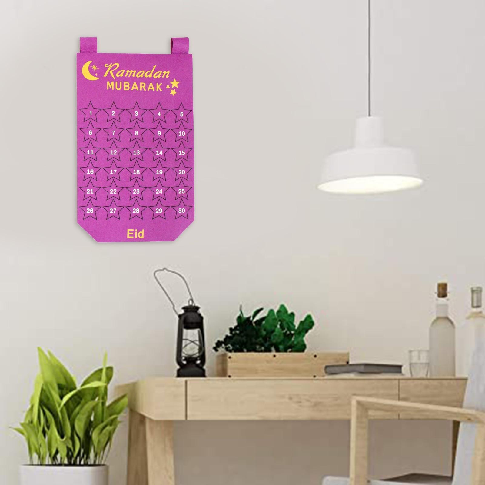 Горячая Распродажа ИД Мубарак календарь из ткани со светодиодной подсветкой из 30 блоки из серии