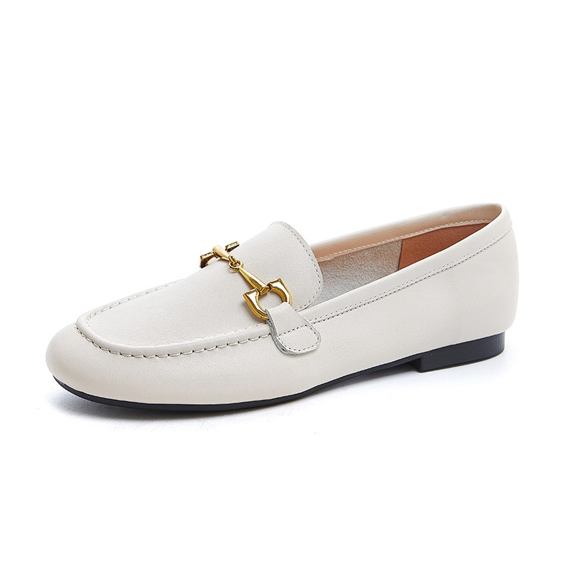 2021 Genuine Leather Slip On Shoes For Women Flat Shoes Women Flats Ballet Women's Loafers Soft Ladies Casual Shoe Zapatos Mujer