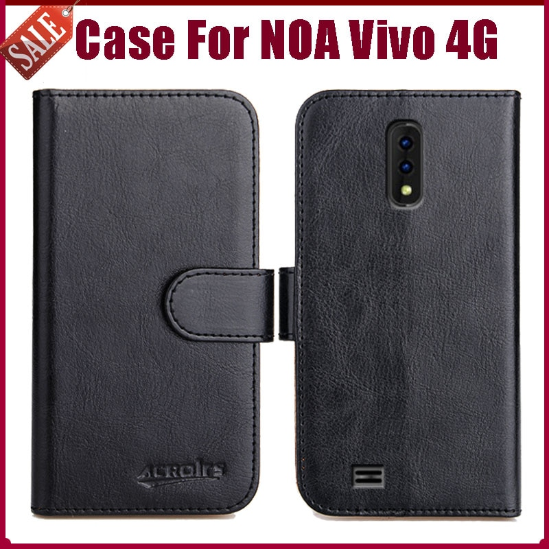 """¡Caliente! NOA Vivo 4G funda 5,45 """"6 colores Flip Funda de cuero suave para teléfono funda con función de soporte tarjeta de crédito ranuras"""