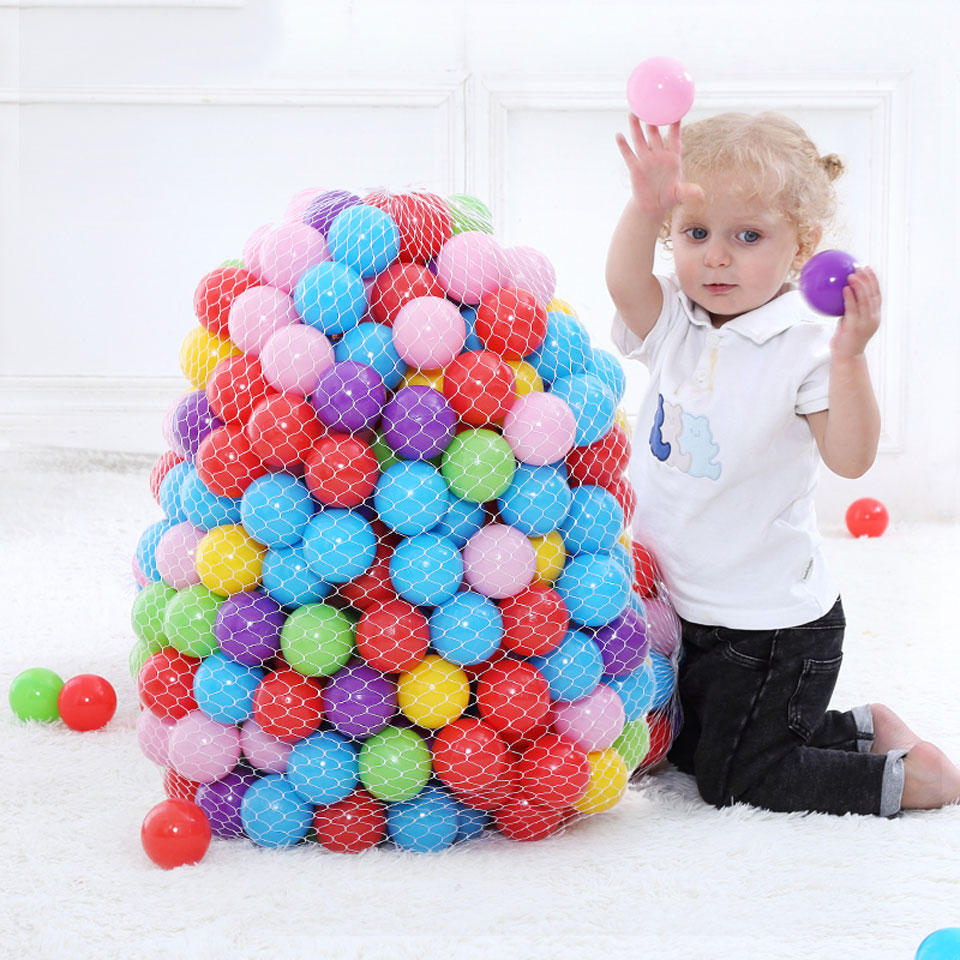 200 Pcs Kids Toy Balls Colorful Ocean Ball Soft Plastic Eco-Friendly Water Pool Ocean Wave Ball Pit Toys for Baby Dia 5.5cm