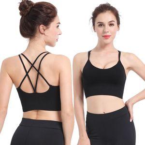 Women Sport Bra Fitness Top Female Push Up Crop Top Workout Active Wear For Yoga Gym Brassiere Women's Sportswear