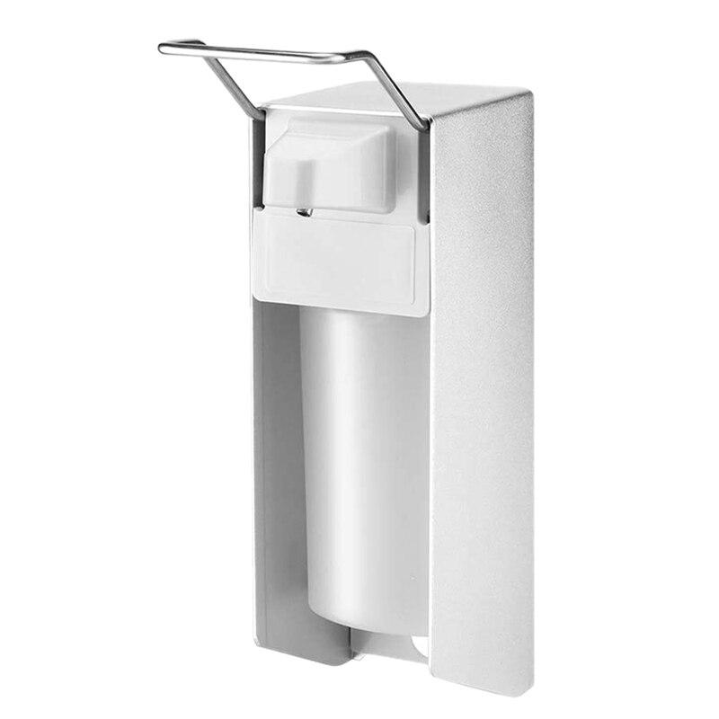 500Ml Elbow Disinfection Dispenser Wall-Mounted Soap Dispenser Aluminum Hand Sanitizer