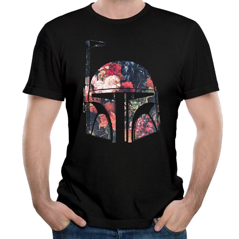 Midnite Star Mini Boba Fett Floral Star Wars camisetas Shopping hombres Camisetas cuello redondo de manga corta 100% de algodón Venta caliente Tee