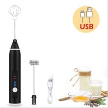 Nouveaux outils de cuisine à domicile USB batteur à oeufs automatique manuel auto-tournant en acier inoxydable fouet mélangeur à main mélangeur outils doeufs