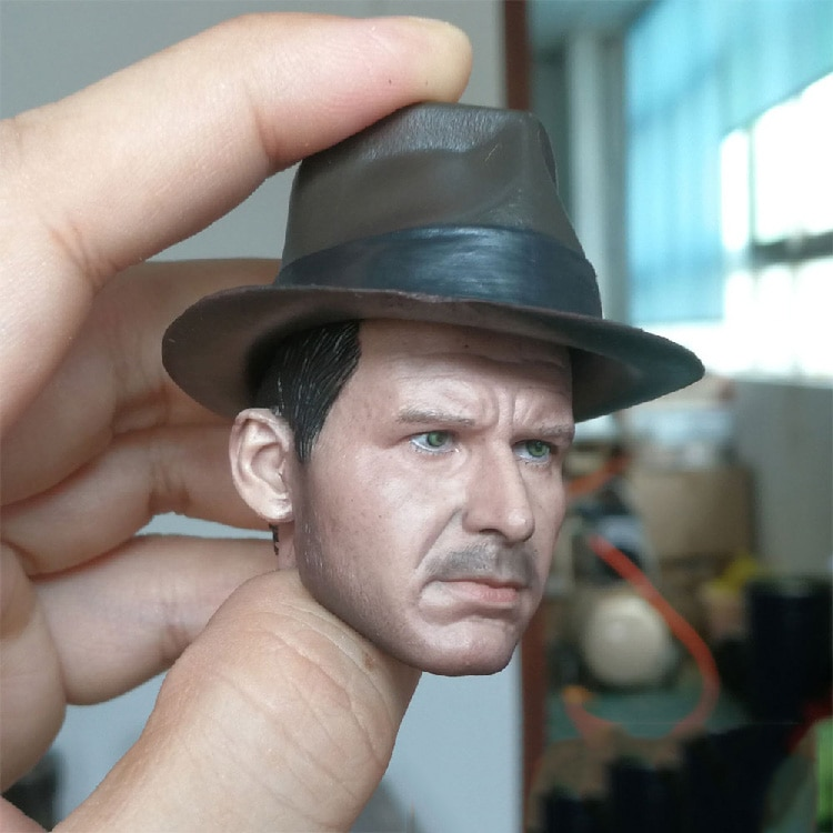 In stock 1/6 Scale Male Figure Harrison Ford Head Sculpted Normal / Damaged Version of Hardcover Model for 12 '' Action Figure