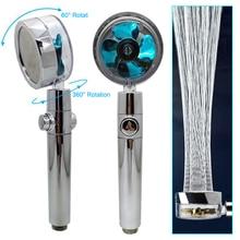 360องศาหมุน Turbo หัวฝักบัว Rain Shower Turbocharge รดน้ำพร้อมพัดลมห้องน้ำอุปกรณ์เสริม Turbolux Showe