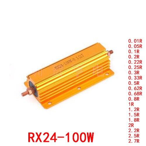 5-pezzi-rx24-100w-resistore-a-guscio-in-alluminio-dorato-001-r-005-r-01-r-022-r-025-r-033-r-05-r-068-r-08-1r-12-r-15-r-2r-22-r-25-r-27-r