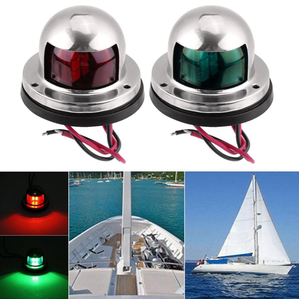 Индисветильник для лодки, лодки, парусного спорта, 1 пара, 12 В, из нержавеющей стали, красный и зеленый лук
