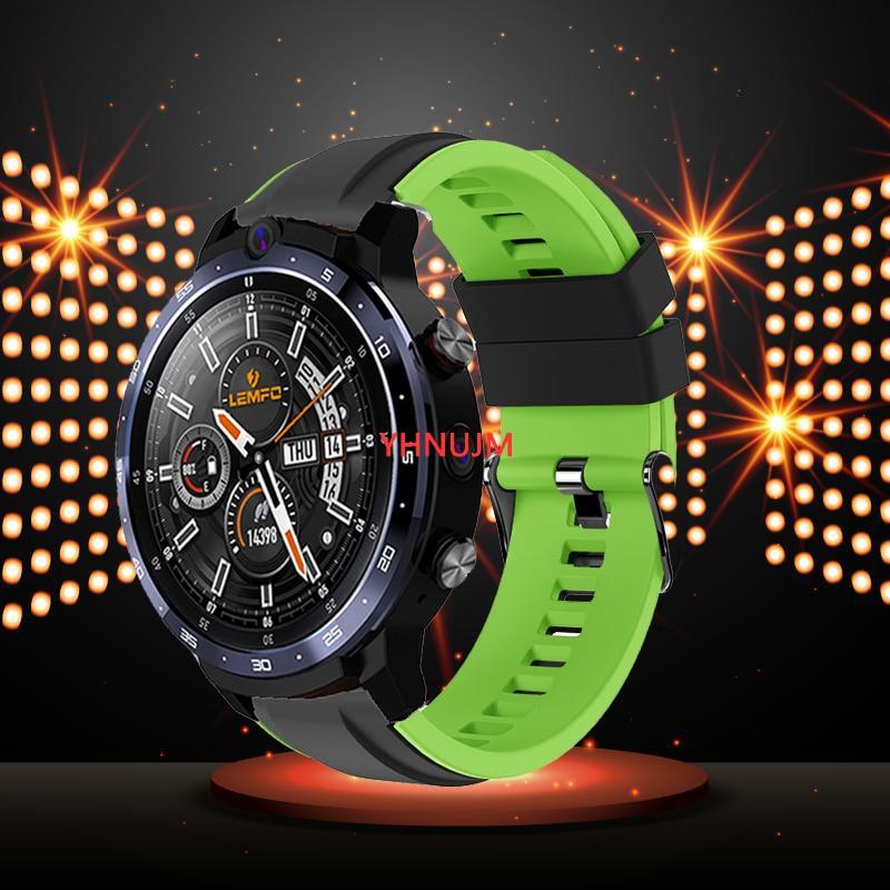 Silicone Replacement Watch Band For LEMFO  LEM12 PRO LEM12 Smartwatch WatchBands Unisex Fashion Pure Color Sports Strap Wrist