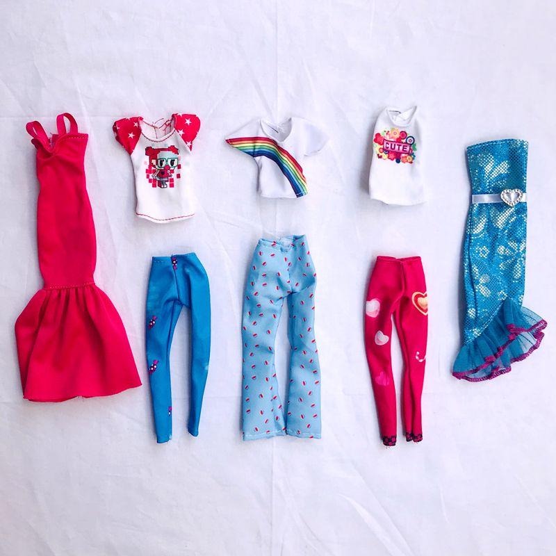 Детская игрушка, модная одежда, топы, штаны, платья для кукол, одежда, мини-аксессуары, 30 см, для игры Барби, «сделай сам», подарок на день рожд...