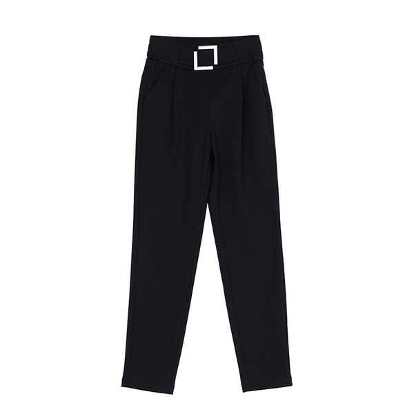 Real Shot Spring and Autumn New Loose Korean Style High Waist Black Pants