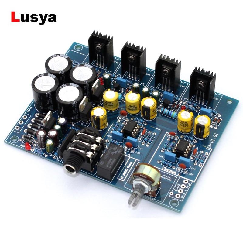Placa amplificadora de auriculares, Amplificador de auriculares NE5532 BD139 BD140 para altavoz...