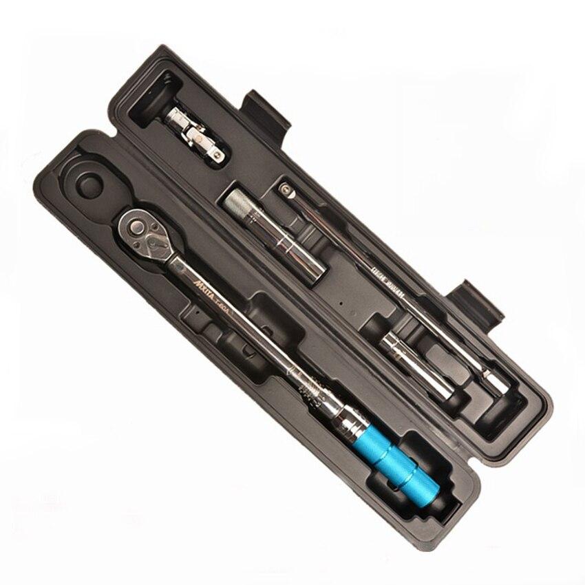 """3/8 """"5-60N.m Industrial de alta precisión juego de llave de Torque magnético manguito de enchufe Llave de trinquete bicicleta herramientas de reparación de coche"""