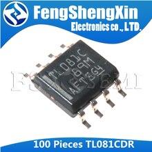 100 Uds TL081CDR SOP8 TL081C SOP TL081 SOP-8 081C SMD JFET-INPUT amplificadores operacionales IC