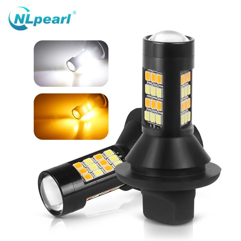 Nlpearl 2x montaje de luz Led DRL de coche, Canbus T20 luz de giro, luz Led de conducción diurna Ba15s BAU15S 1156 P21W, luces de señal de giro