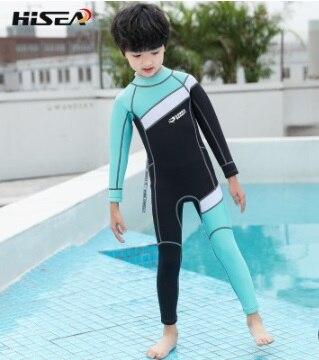 2.5mm crianças neoprene snokeling wetsuits rash guards mergulho proteção uv corpo inteiro manga longa um pedaço maiô ternos de mergulho