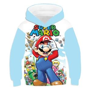 2021 Kid's Cloth 3D Print Mario Bros kids Casual Girls Hoodie Pullover Sportswear Tops Gift for Children Sweatshirt Tops