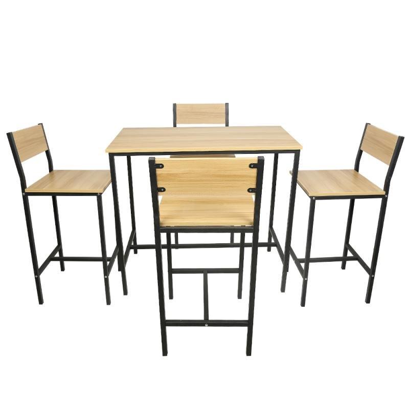 الأمريكية الصناعية خشبية طاولة بار وكرسي مجموعة عالية الظهر الجدول مجموعات كراسي الإفطار بار مجموعة شريط المنزل شرفة الأثاث HWC