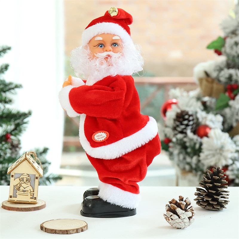 Creative Christmas 30cm Dancing Gifts Kids Santa Claus Decorations Box With Music Ornaments Navid Ch