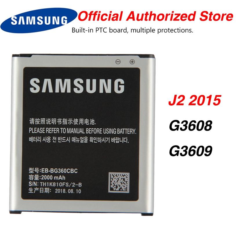 Samsung-batería EB-BG360BBE Original para Samsung GALAXY J2 2015 G3606 G3608 G3609 SM-J200H SM-G361H 2000mAh