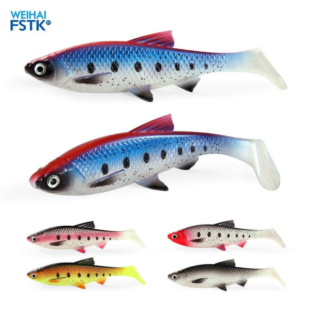 Señuelo suave Artificial, realista, grande, ojo 3D, cebos suaves, 15cm/36g swimbaits lucio de wobbler bass, equipo para pesca
