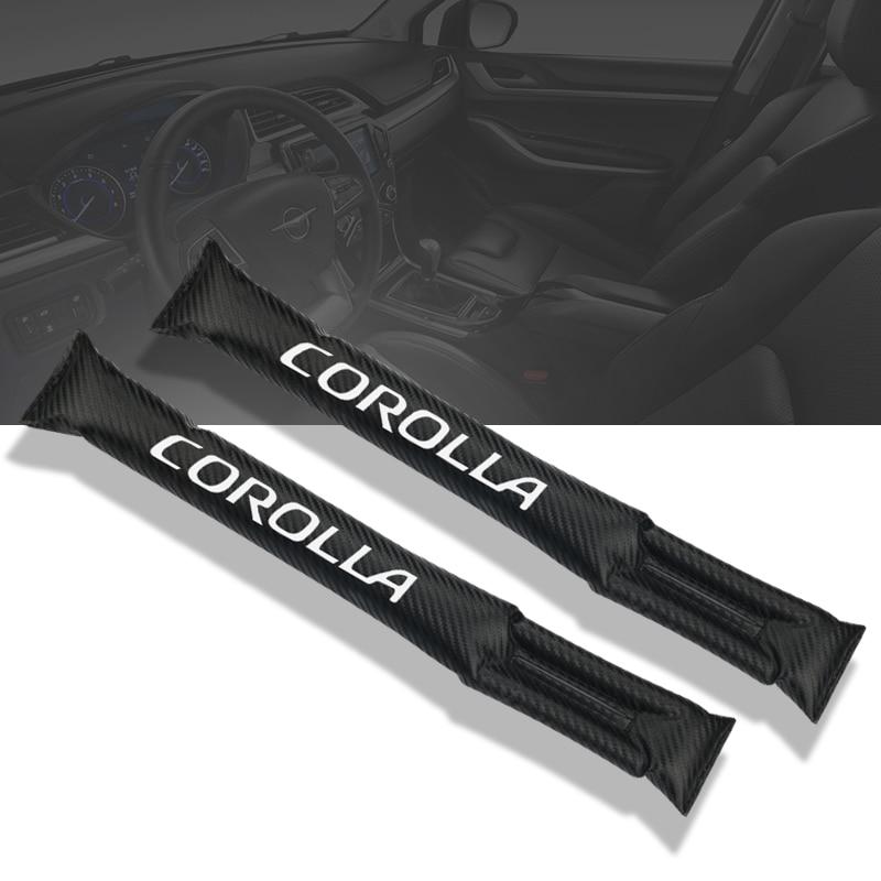 Almohadilla protectora de fibra de carbono a prueba de fugas para espacio de asiento de coche para accesorios Toyota corolla Car styling