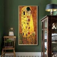 Gustav Klimt     peinture sur toile abstraite  affiche dart mural Vintage  decoration de maison de galerie moderne