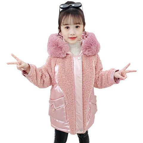 2020 Winter Girls Warm Coat Fashion Kids Hooded Jacket For Girl Outerwear Children Clothes Thicken Warm Parkas For Girls W739 enlarge