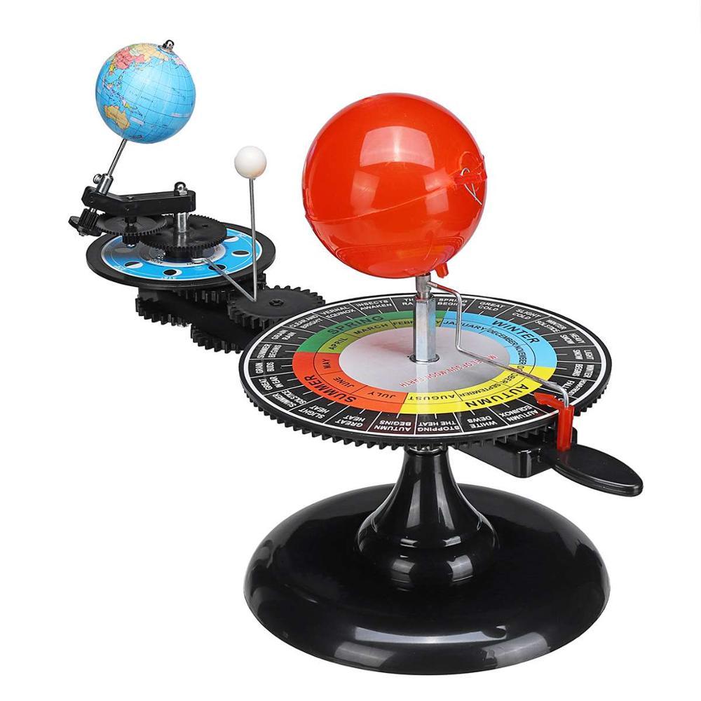 Solar System Model DIY Globe Earth Sun Moon Orbital Planetarium Educational for Child Kid Toy Astronomy Science Kit Teaching