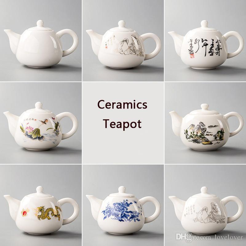 Yixing – théière en céramique porcelaine blanche, service à thé chinois, bouilloire Unique, infuseur Kung Fu, tasses à thé chinoises D001