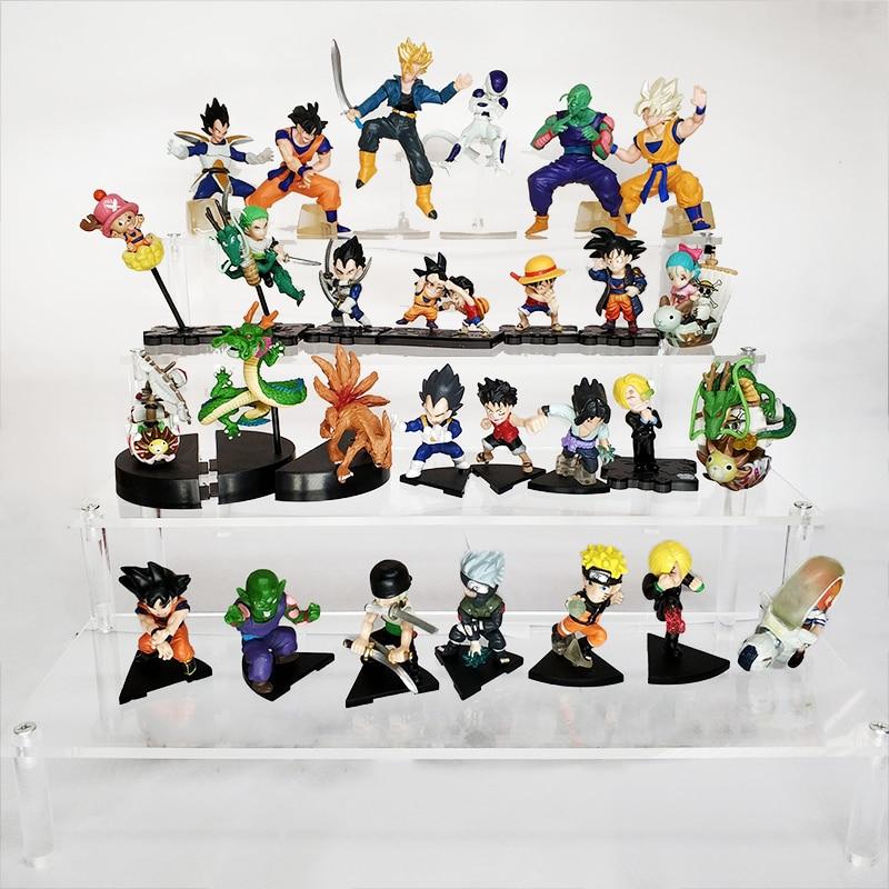 6 adet/10 adet/12 adet/13 adet/16 adet dragon topu Goku Vegeta Shenron Action Figure naruto tek parça Luffy figürleri modeli çocuk oyuncakları