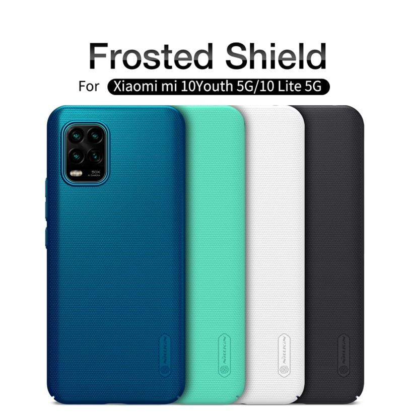 For Xiaomi Mi 10 Lite 5G Case Mi 10 Youth 5G Cover Nillkin Frosted Shield Hard PC protector Back Cov