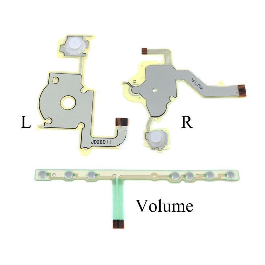 Reemplazo de dirección botón cruzado tecla izquierda volumen derecho cable flexible para teclado para Sony PSP 2000 teclado Botón izquierdo/Derecho
