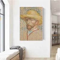 vintage poster vincent van gogh self portrait art print canvas painting home decor