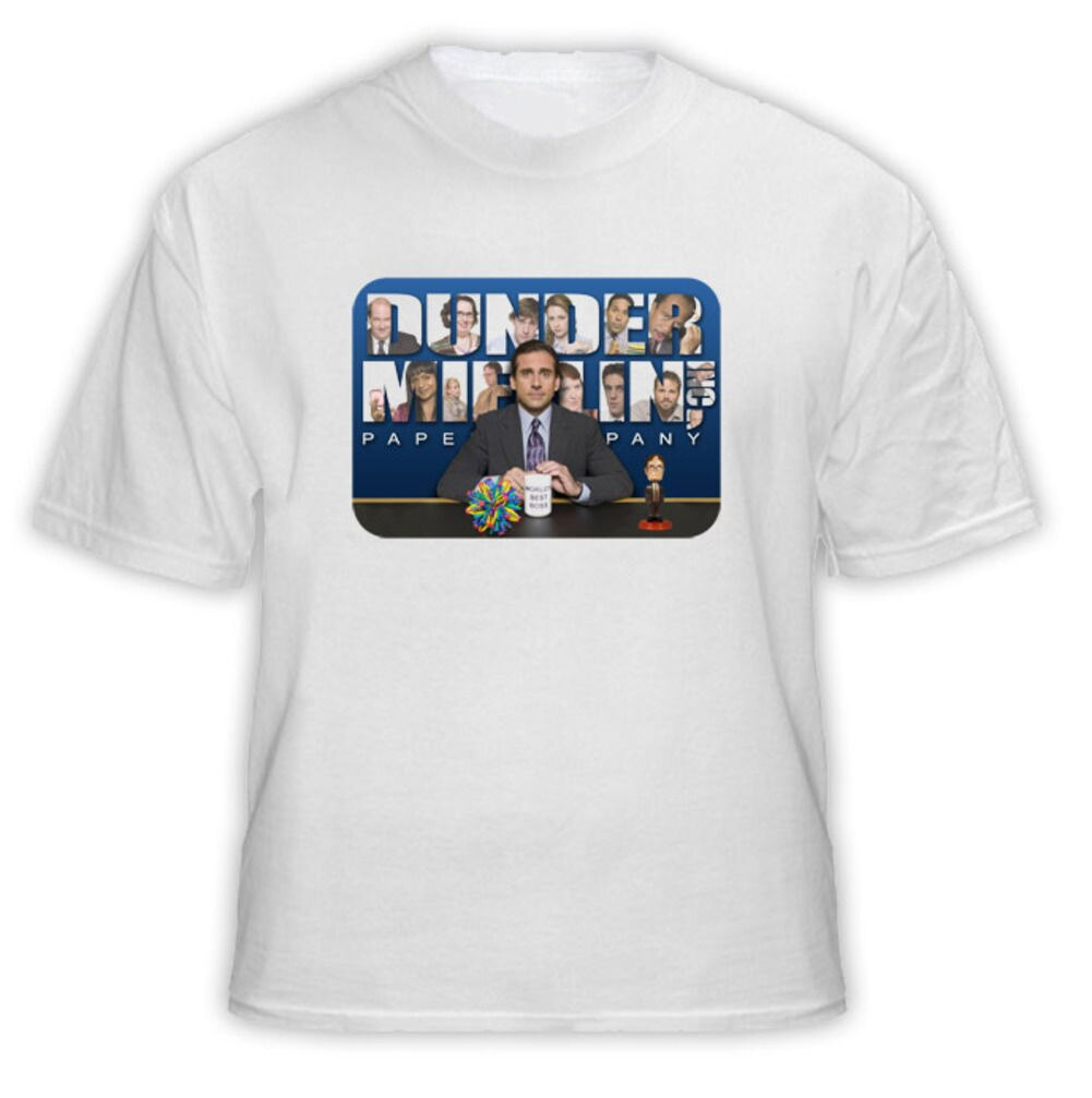 The Office Dunder Mifflin Funny Tv Show T Shirt   Cool Casual pride t shirt men Unisex New Fashion tshirt free shipping