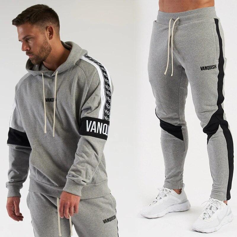 2020 Autumn Winter New Men's Suit Sportswear 2-Piece Hoodie + Pants Jogging Fitness Sportswear Pullover Track Suit Sweater Set