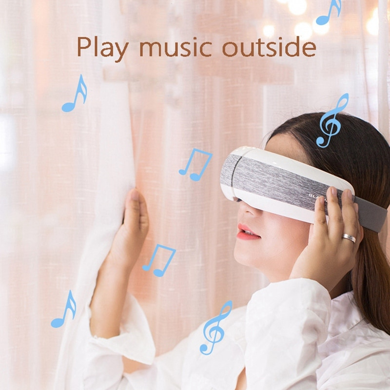 Smart Bluetooth Wireless Eye Massager Relief Fatigue Hot Compress Air Pressure Vibration Massage Relaxation Protector enlarge