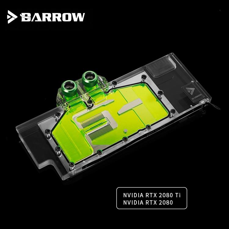 BS-NVG2080T-PA кулер Барроу gpu для NVIDIA RTX 2080 Ti GPU водный блок совместимый с NVIDIA RTX 2080 гаджет водяного охлаждения