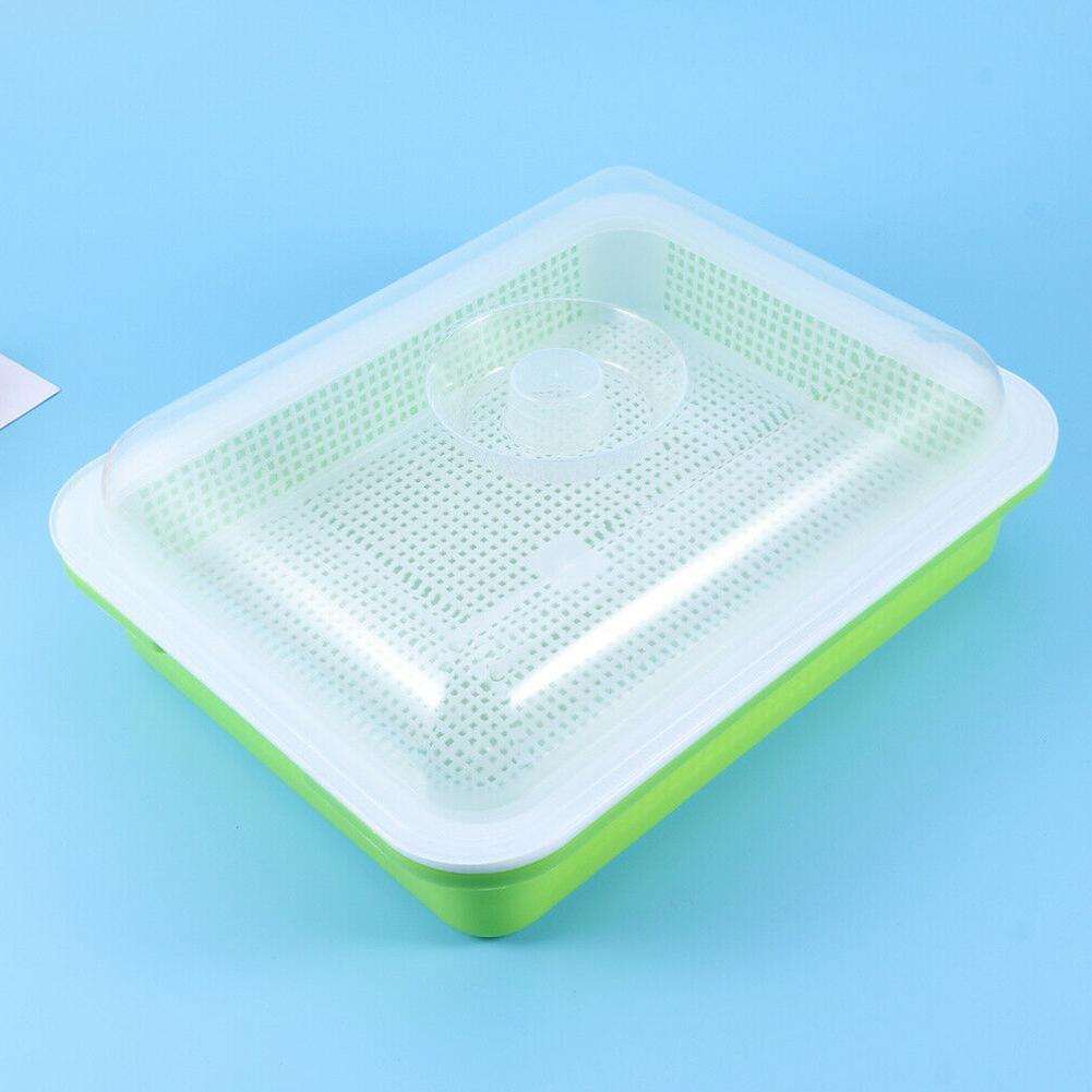 Bean Sprouts Double-layer Dishes Plate Seedling Tray Plant Basket Nursery Hydroponic Garden Flower Plastic Home Pots Flower F8F7