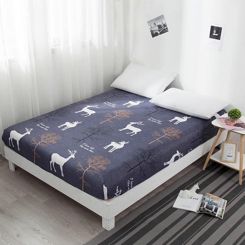 Sábana ajustable para cama Bonenjoy, funda protectora de colchón de tamaño Queen con estampado reactivo de corazón, Sábana individual con elástico para cama King