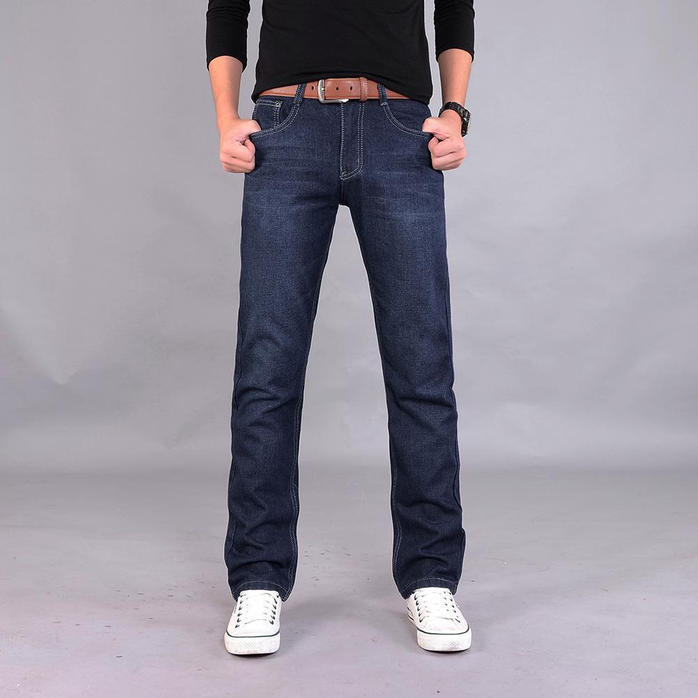 straight leg mid rise faded jeans jeans men Classic Men Casual Mid-Rise Straight Denim Jeans Long Pants Comfortable Trousers Men's Clothing men low rise jeans
