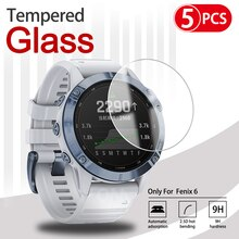 5Pcs 9H Premium Tempered Glass For Garmin Fenix 5 5s Plus 6S 6X 6 Pro Smartwatch Screen Protector Fi