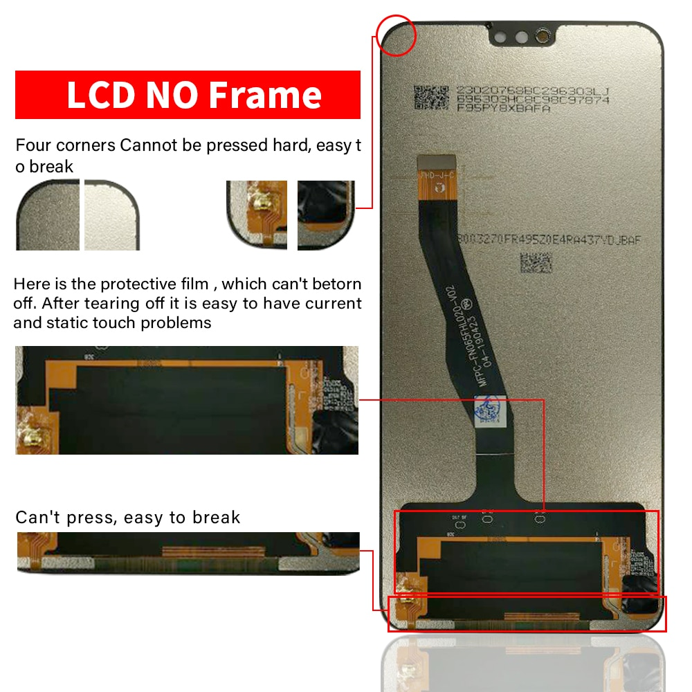 100% Original 6.5 inch LCD For Huawei Honor 8X LCD Display Touch Screen Digitizer Assembly For Honor 8X Display With Gift enlarge