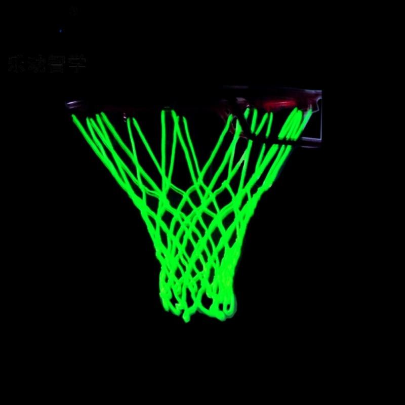 Фото - Basketball Net Heavy Duty Basketball Net Replacement Shooting Trainning Glowing Light Luminous Basketball Net luminous basketball net light up basketball net fluorescent basketball hoop mesh net glowing light basketball supplies
